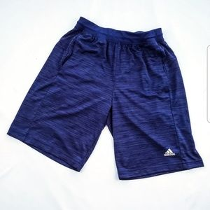 ADIDAS climalite mens shorts heather blue